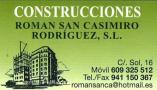 Construcciones Román San Casimiro Pradejón