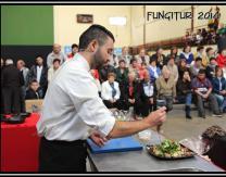 Alberto Cordón desvelando los secretos de su cocina: carpaccio de champiñón de Pradejón