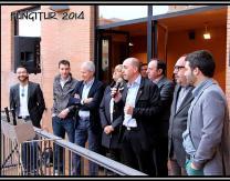 Introducción al pregón Fungitur 2014 del alcalde Óscar León, junto a autoridades en Plaza Melchor