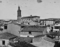 Panorámica de Pradejón y su iglesia