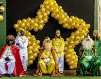 Cabalgata 2020: Reyes Magos y pajes reales preparados para repartir los regalos