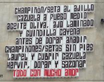 Intervención de arte urbano a cargo de Me Lata