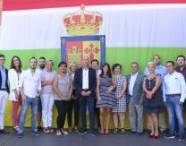 Concejales de ambos municipios en el acto de hermanamiento